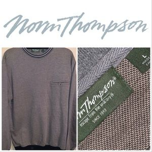 Large Norm Thompson Grey Crew Neck LS Pullover